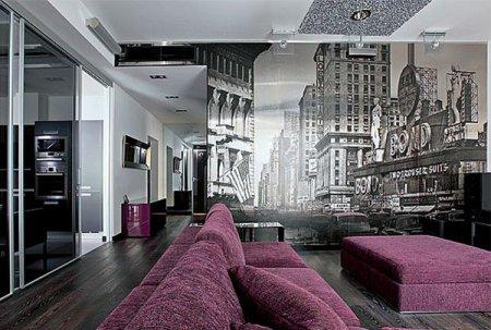 Дизайн хай-тек для гостиной