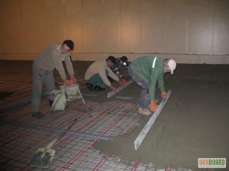 Формировании стяжек на цементной основе с легкими наполнителями