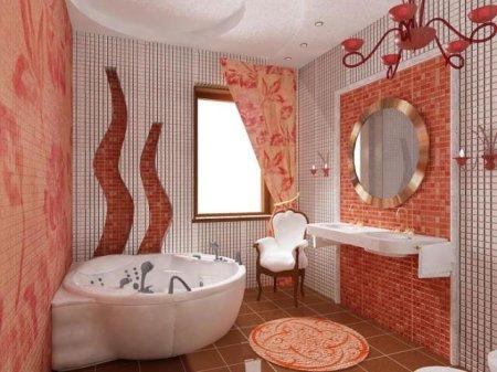 Интерьер ванной: плитка, мебель, детали