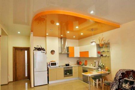Какие натяжные потолки подходят для кухни