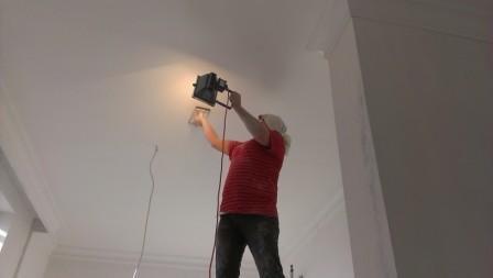 Ошкуривание потолка