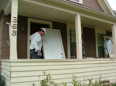 Подготовка к установке двери