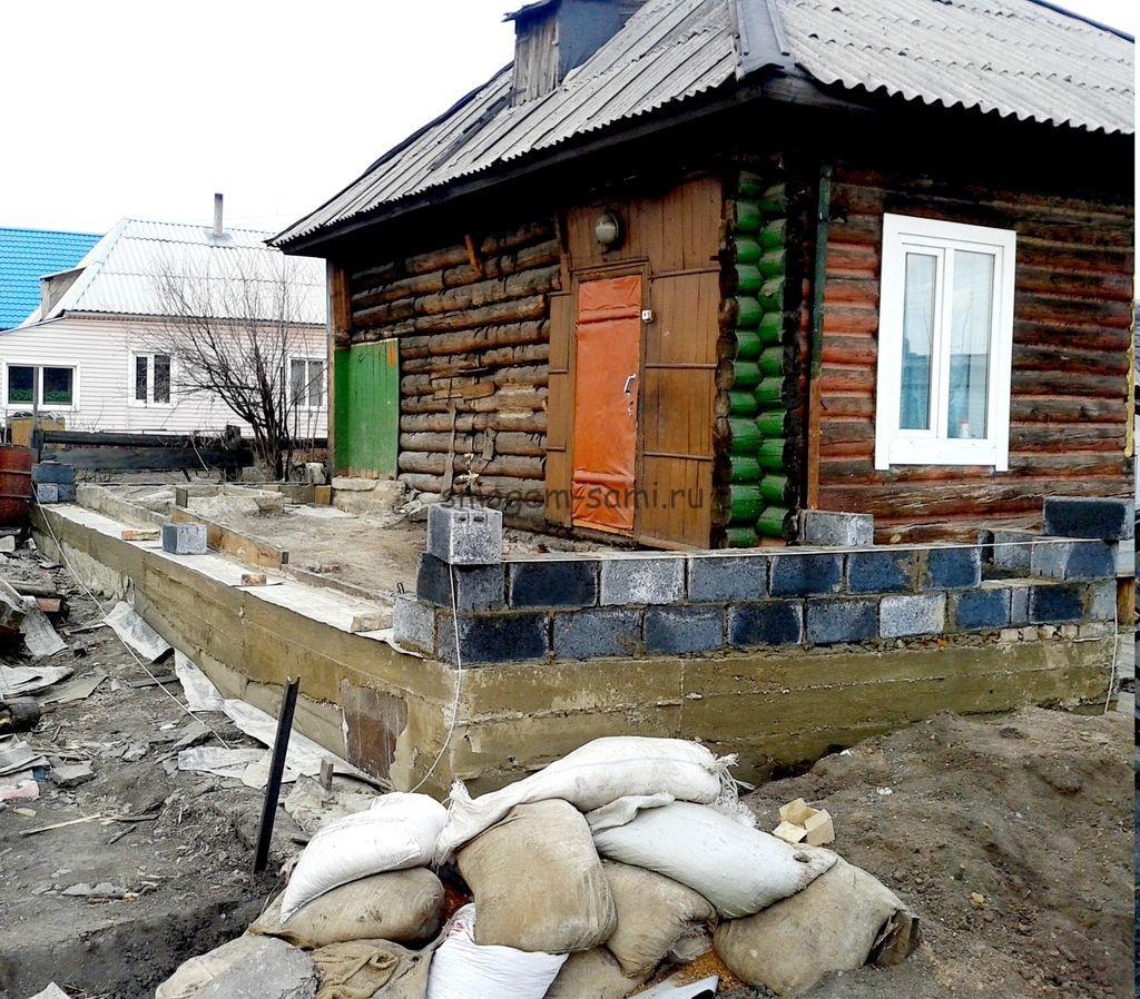Строительство пристройки к дому из шлакоблоков