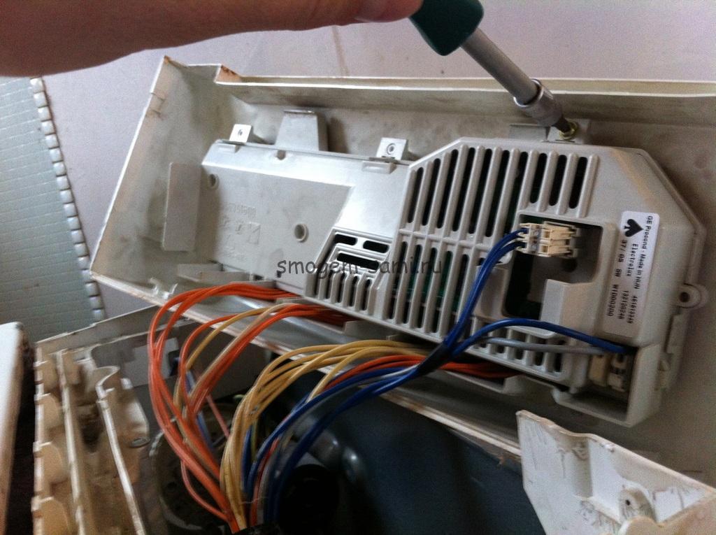 замена платы ЭБУ стиральной машины своими руками