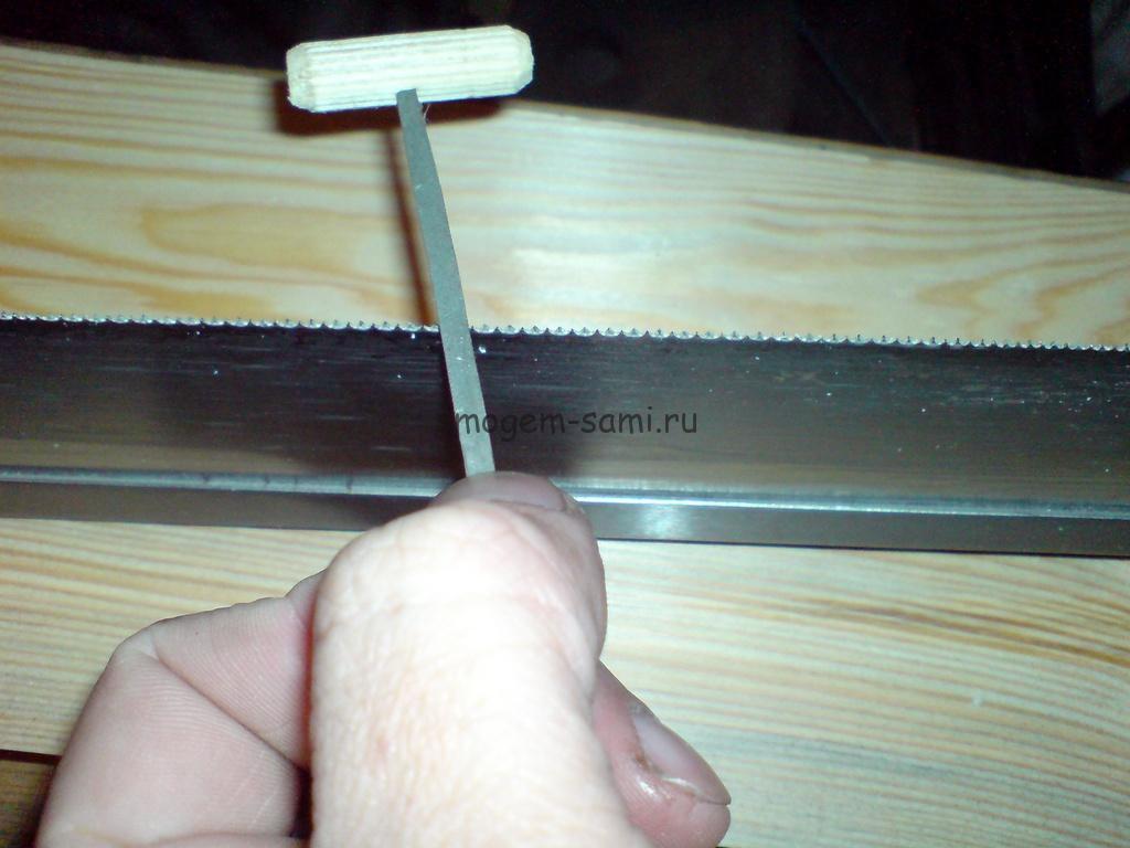 как заточить ножовку самостоятельно