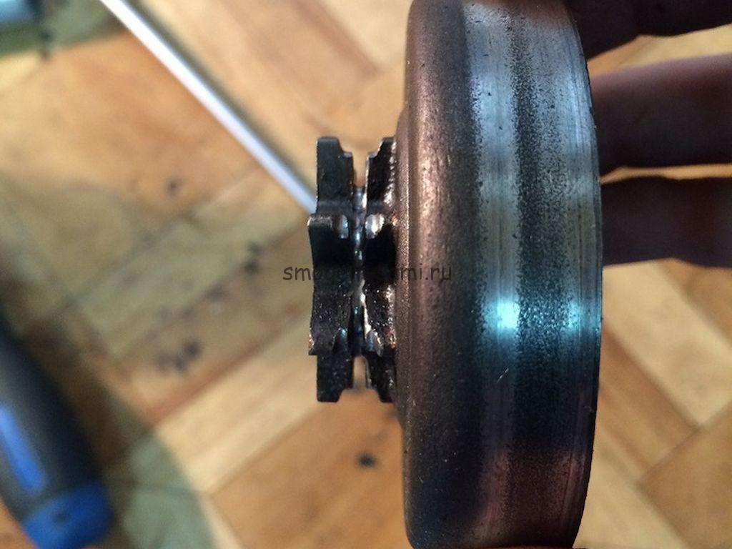 Husqvarna 137 ремонт сцепления бензопилы