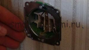 установка розетки скрытой проводки