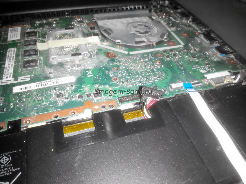 замена батареи ASUS X502C