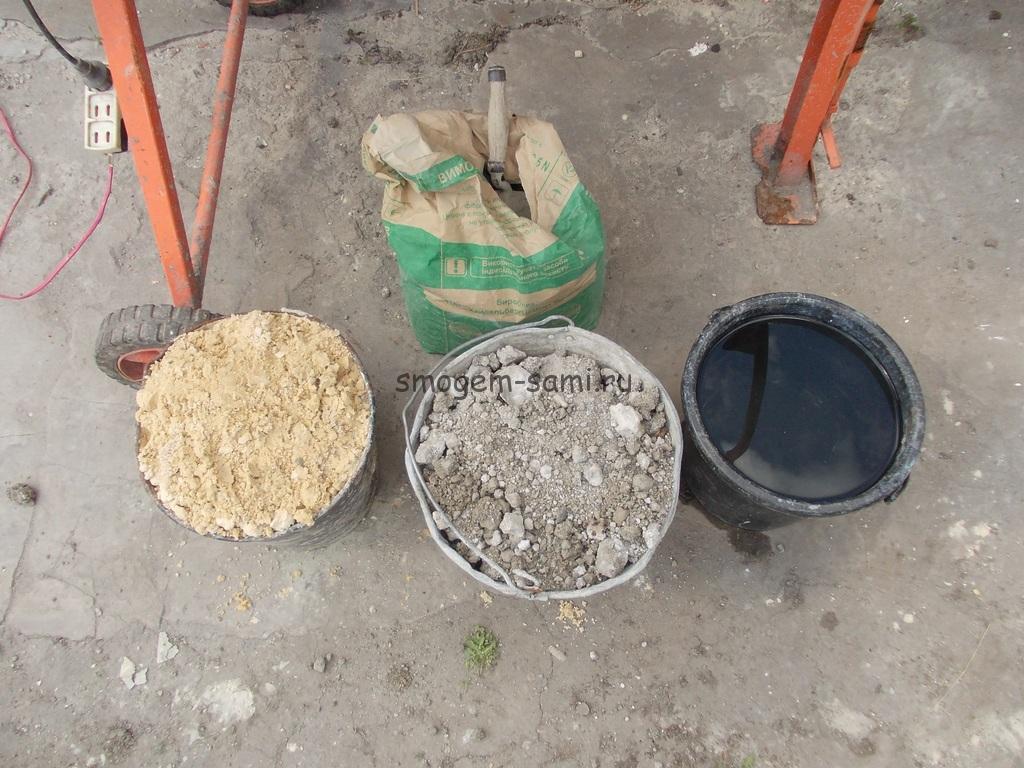 Как замесить большое количество бетона своими руками 4