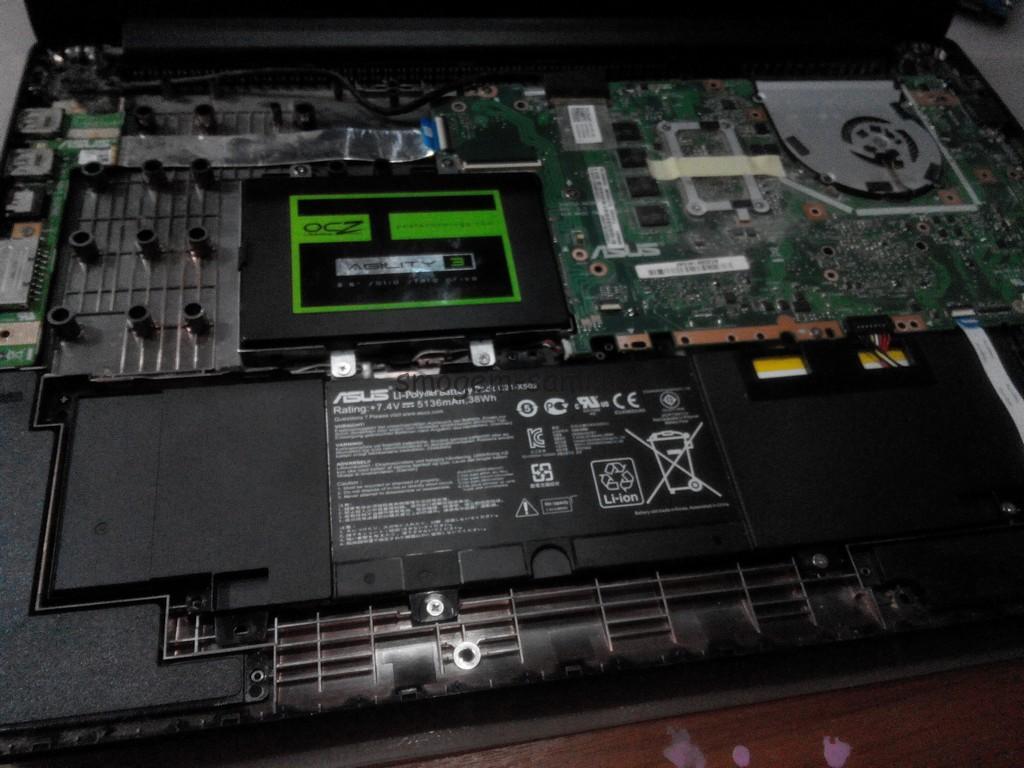 замена жесткого диска ASUS X502C