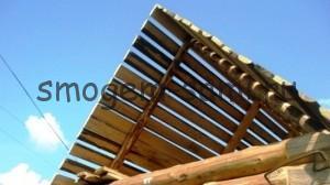 своими руками строительство крыши бани