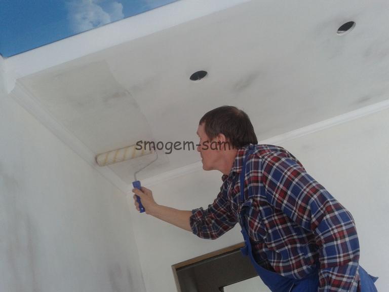 отделка потолка из гкл