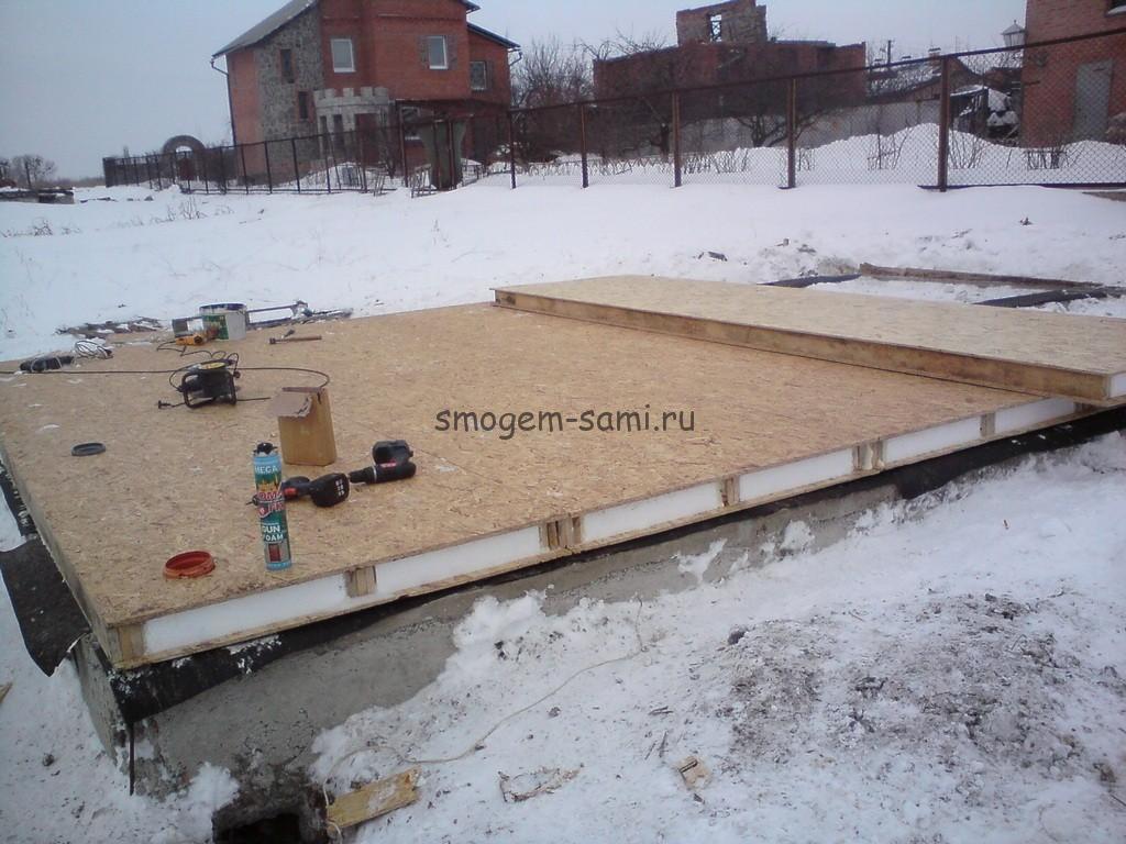 структурные домостроительные панели фундамент ростверк