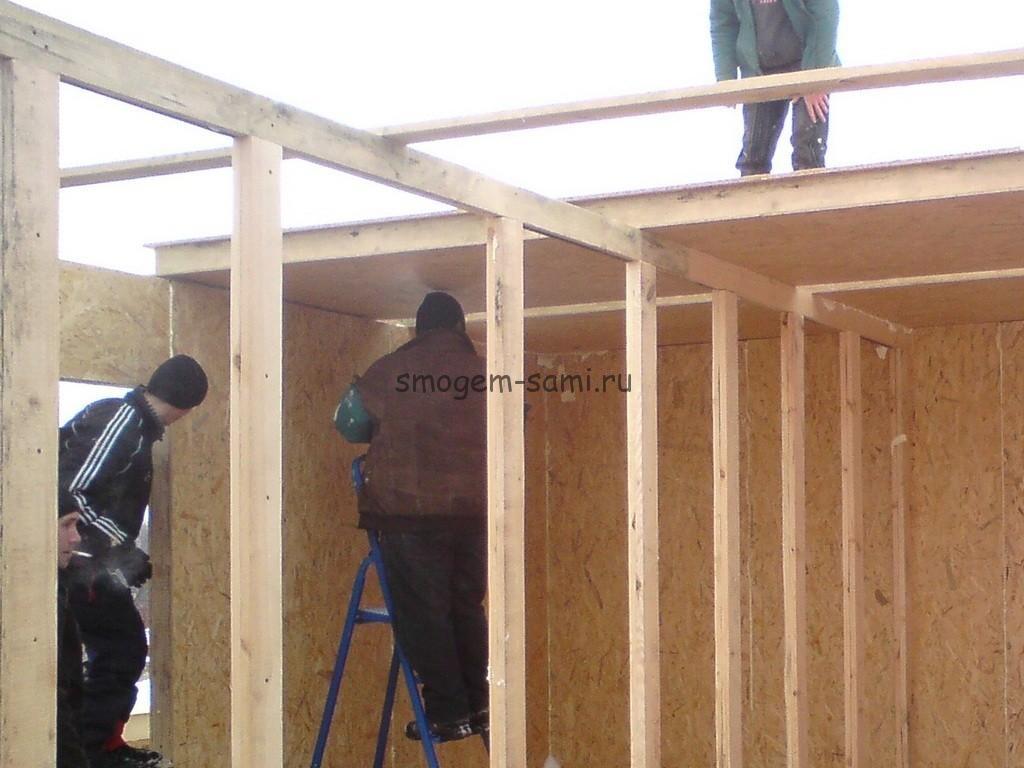 каркасное малоэтажное домостроение СДП-панели