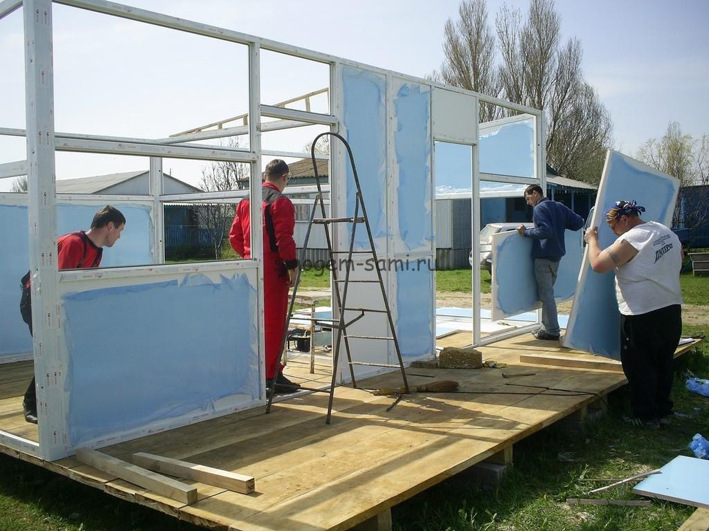 как построить двухкомнатный домик у моря