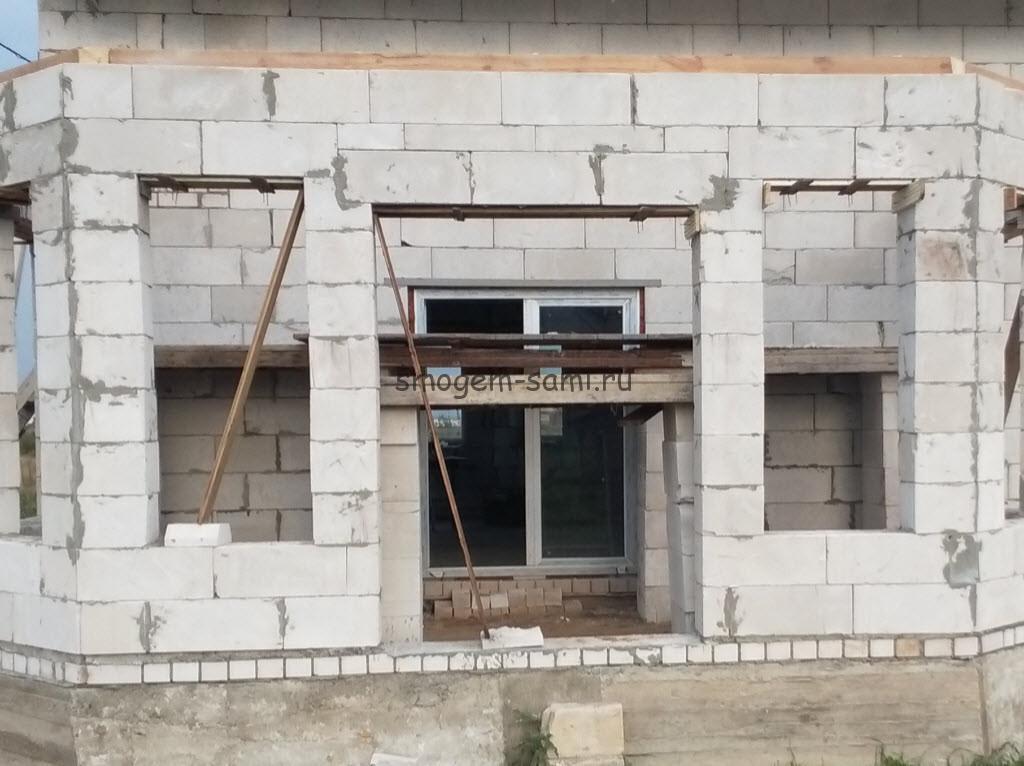 строительство лоджии на первом этаже в доме из газосиликатных блоков
