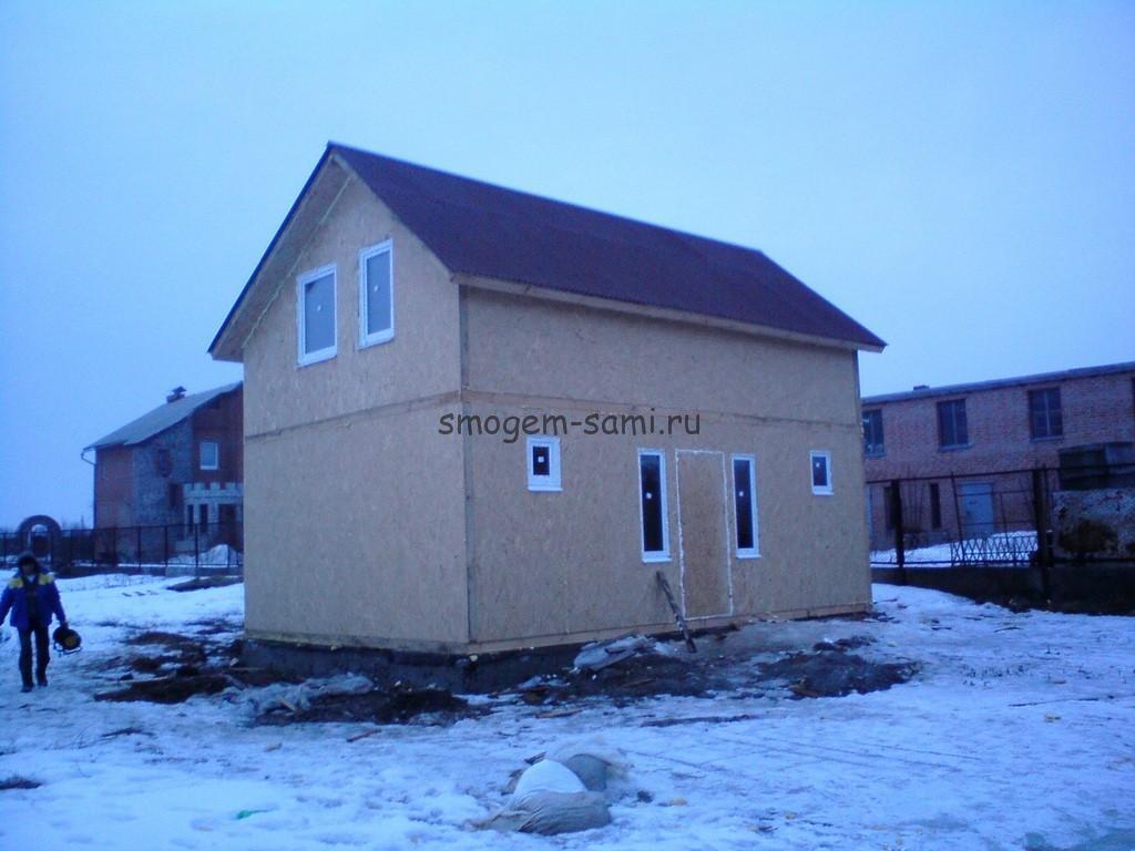 малоэтажное строительство каркасный дом с гаражом