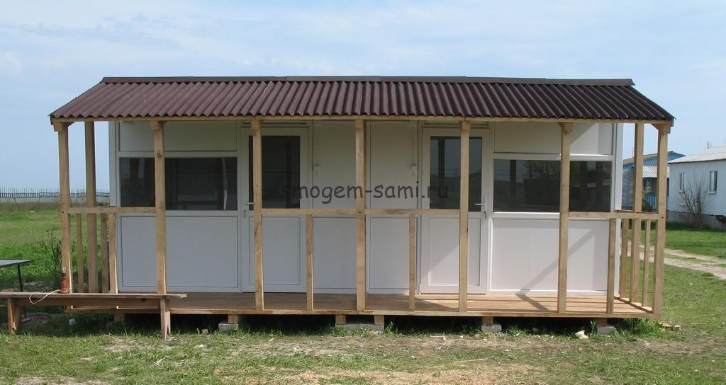 недорогой металлопластиковый домик у моря строительство