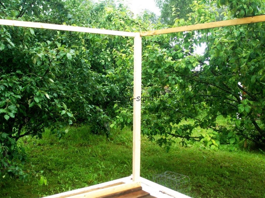 деревянный каркас шатра своими руками