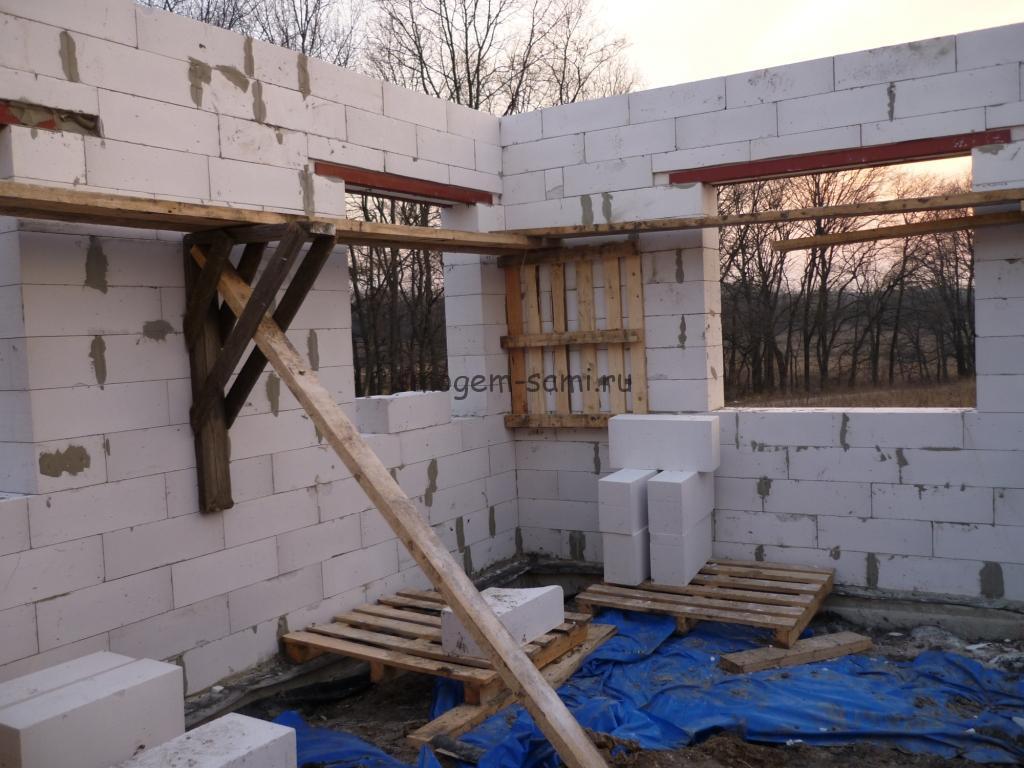фото этапов строительства частного дома
