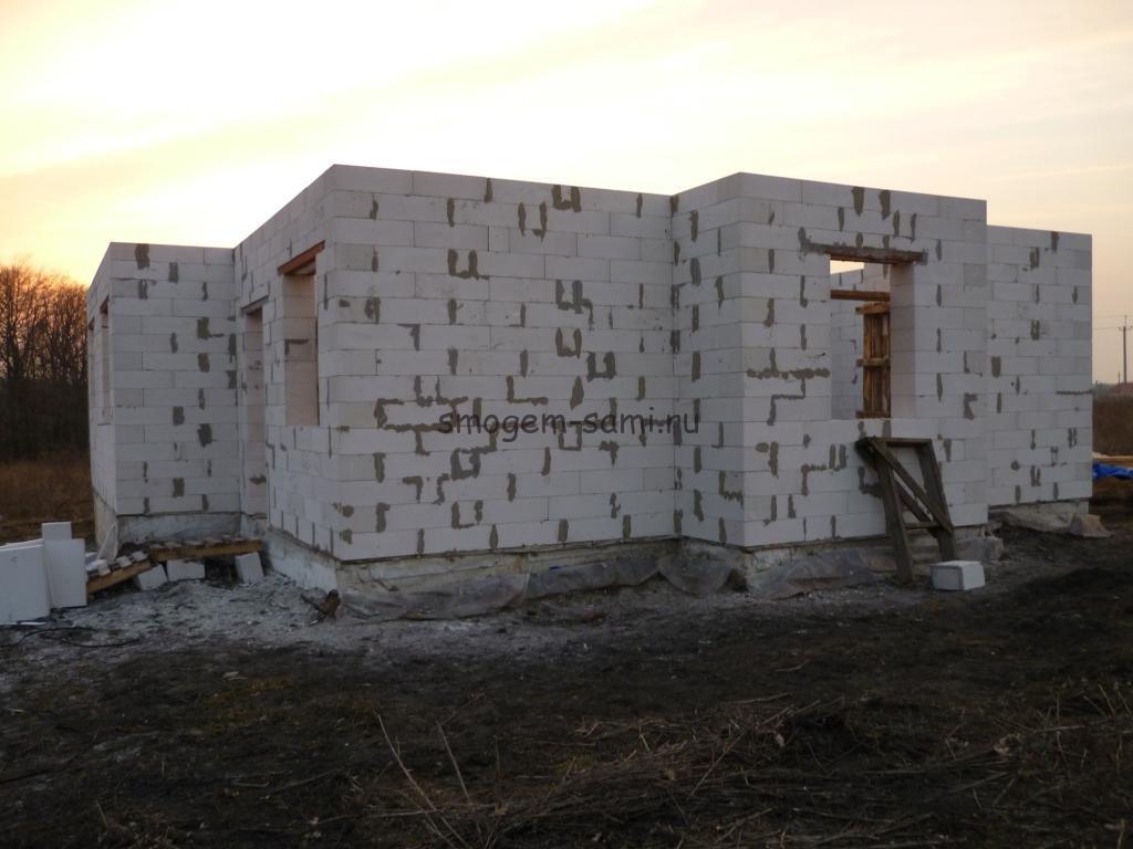 фото этапы строительства частного дома из газобетона