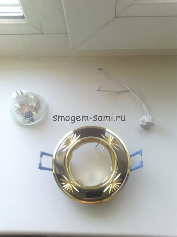 Установка точечных светильников в панели пвх