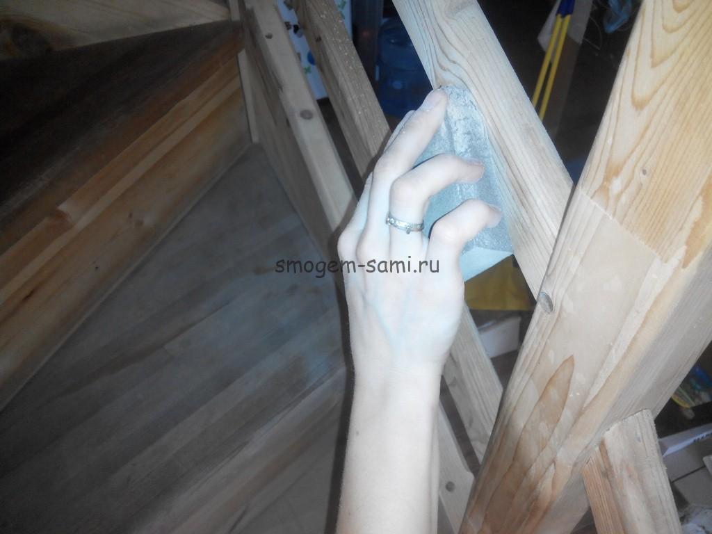 отделка деревянной лестницы в доме фото
