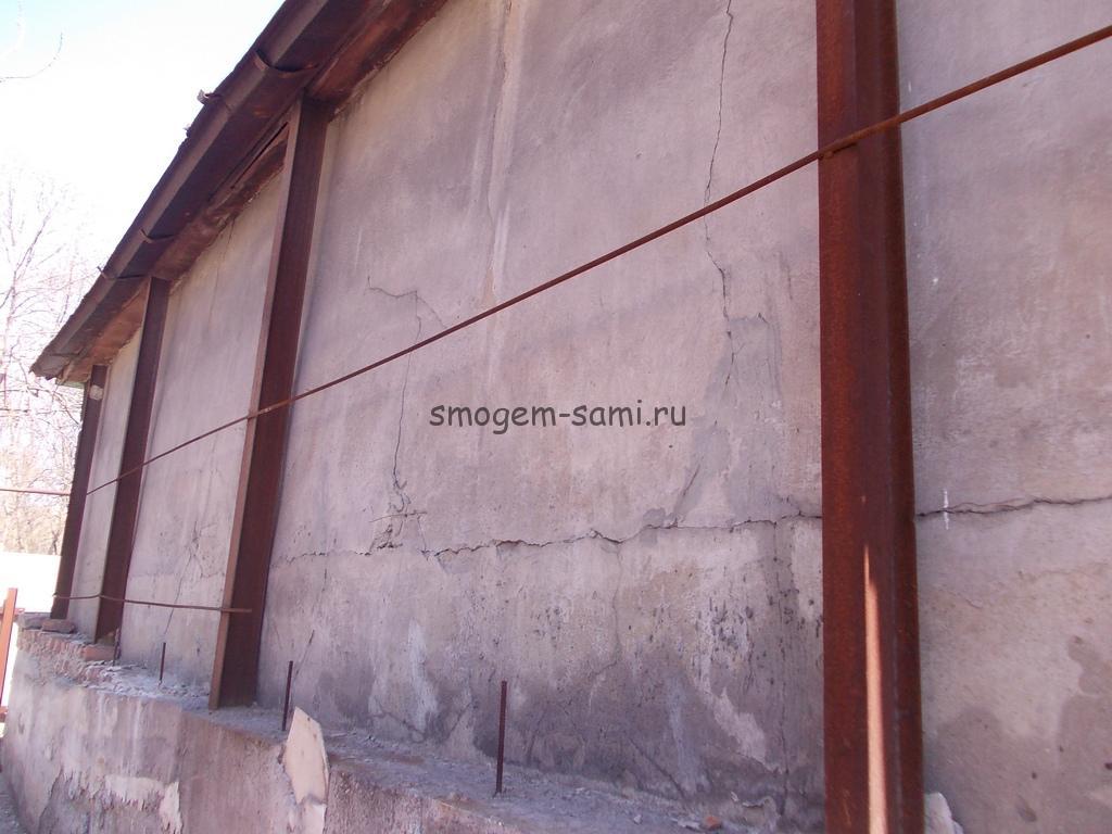 укрепление стены чвоими руками в саманном доме