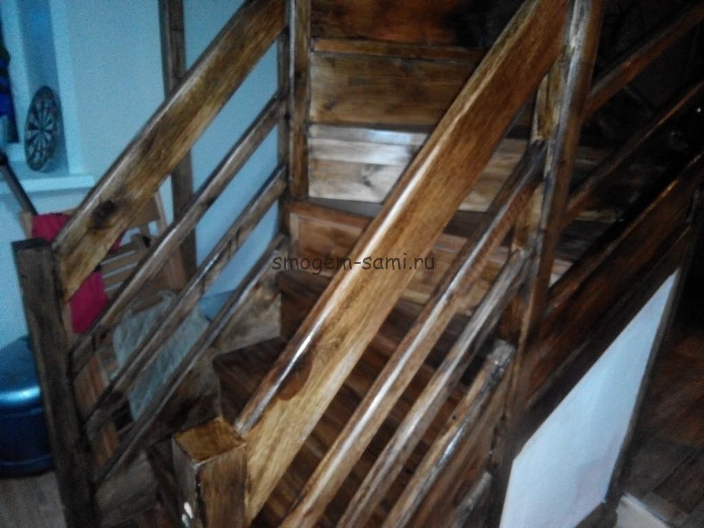как лакировать лестницу
