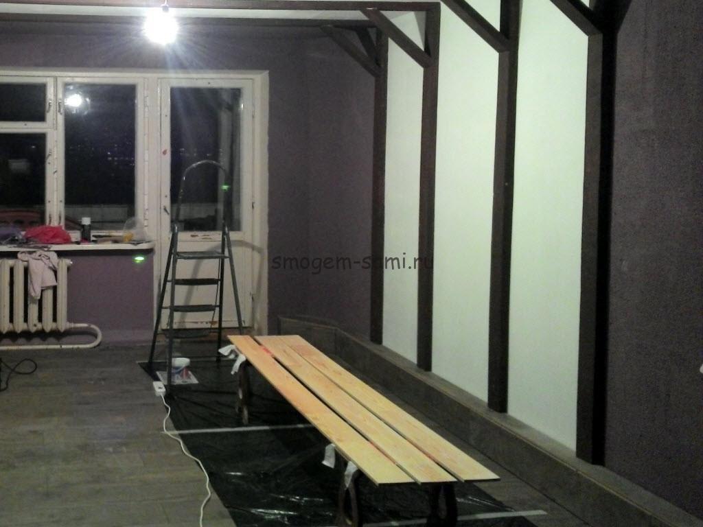декорирование интерьера помещения - монтаж декоративных балок