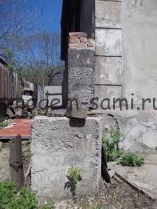 ремонт несущей стены - обложить саманный дом