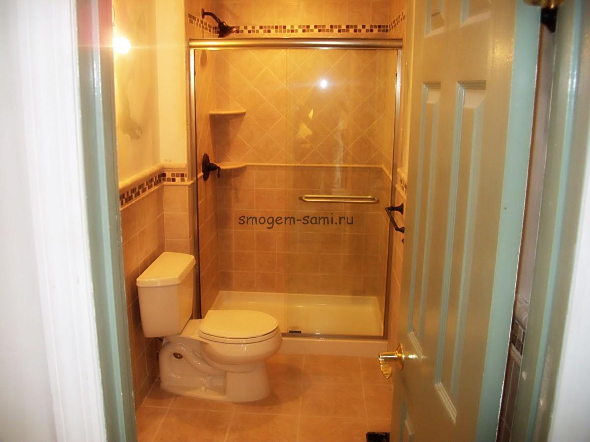 Ванная комната с туалетом дизайн 3 кв м