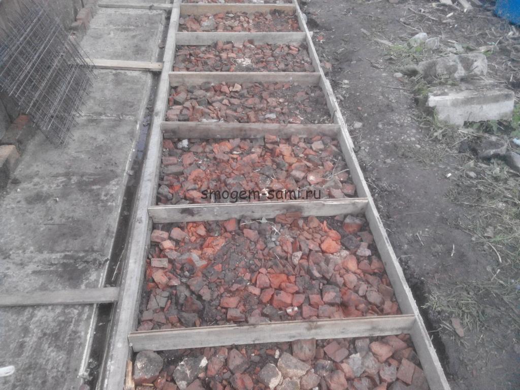 как сделать бетонные дорожки на даче