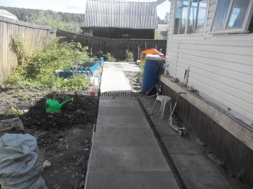 бетонные дорожки как сделать своими руками на даче