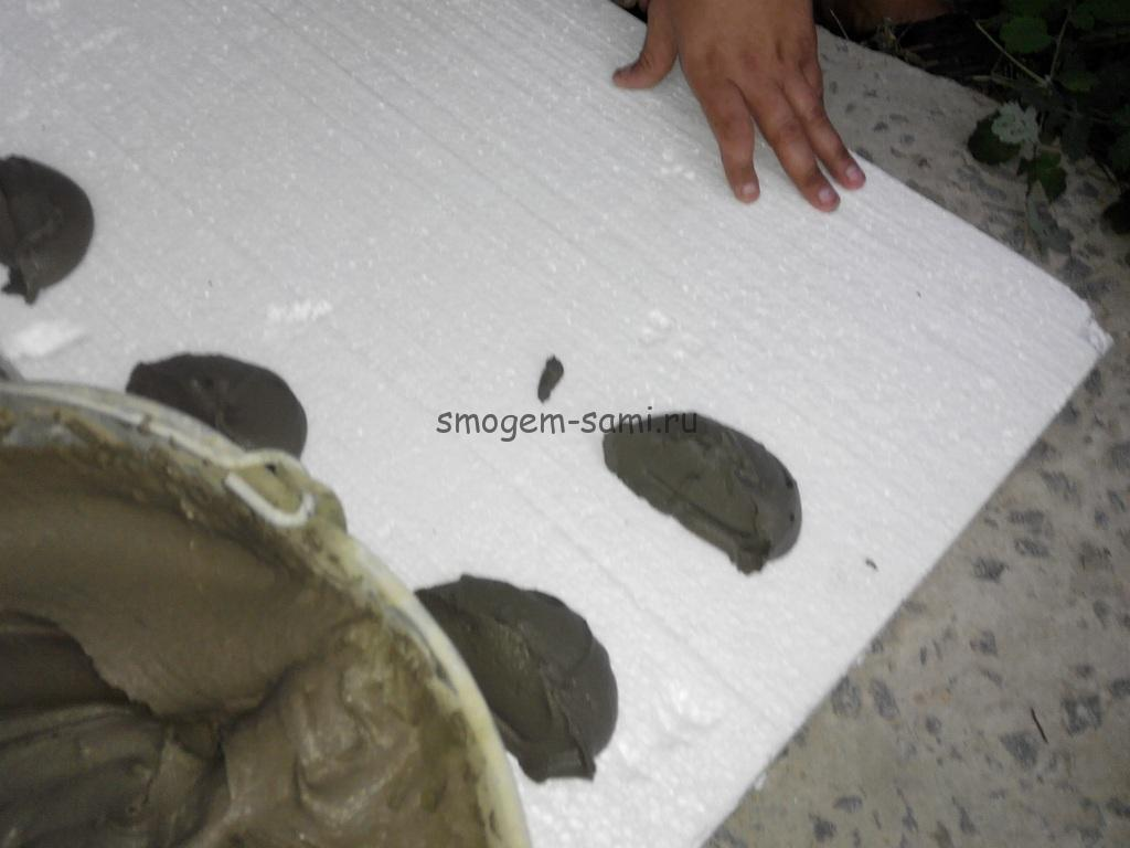 как клеить пенопласт на стену своими руками