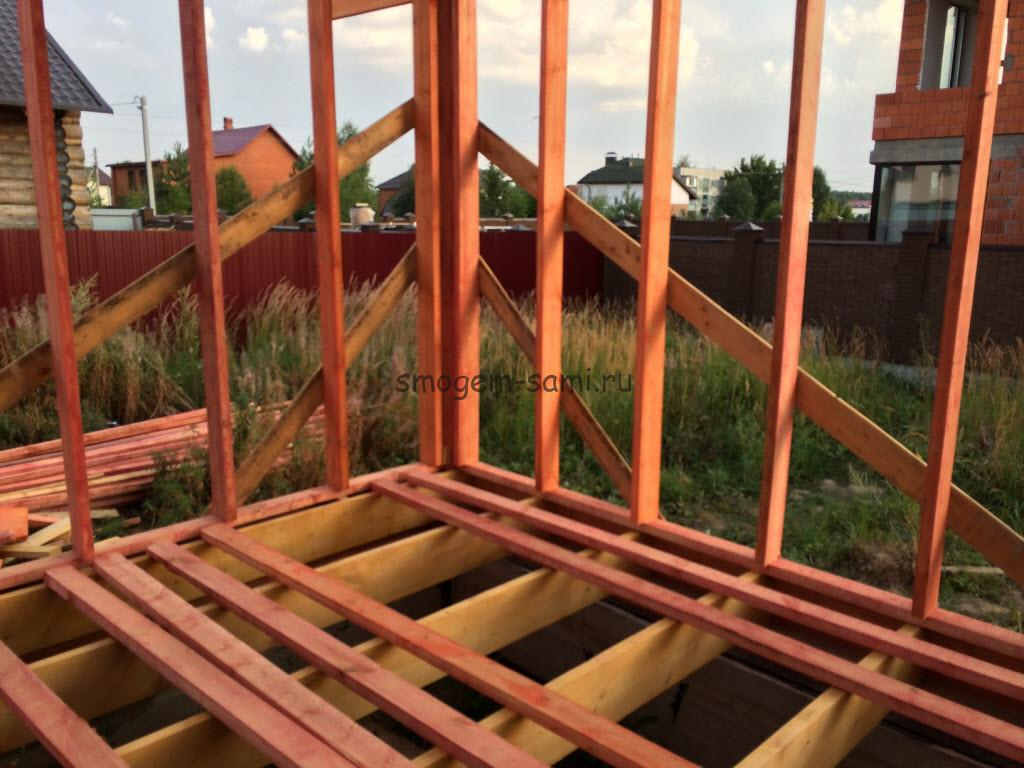 материалы для строительства деревянного каркаса фото