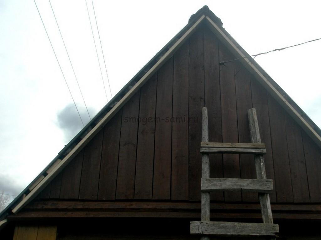 как подшить свес крыши сайдингом фото