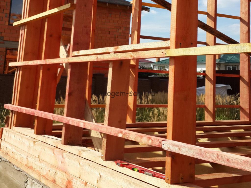 строительство деревянного каркаса своими руками фото