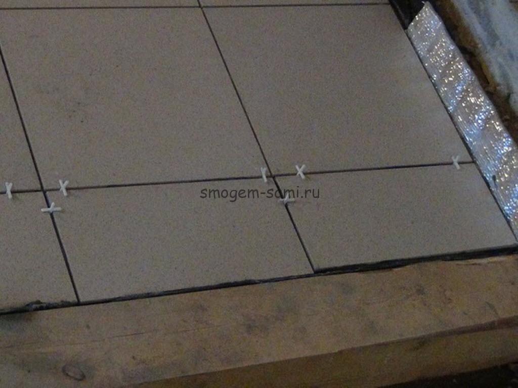 укладка керамической плитки в бане