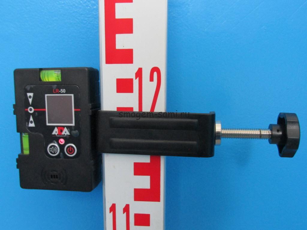 принцип работы приемник детектора лазерного нивелира