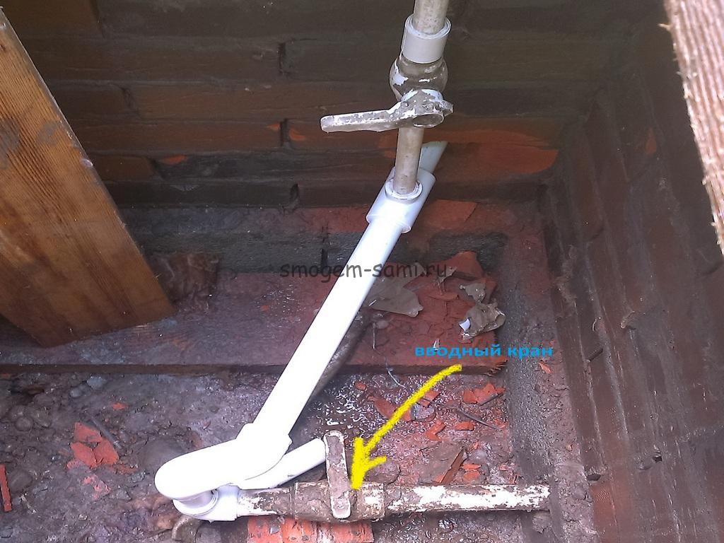 как проложить водопроводную трубу под землей фото