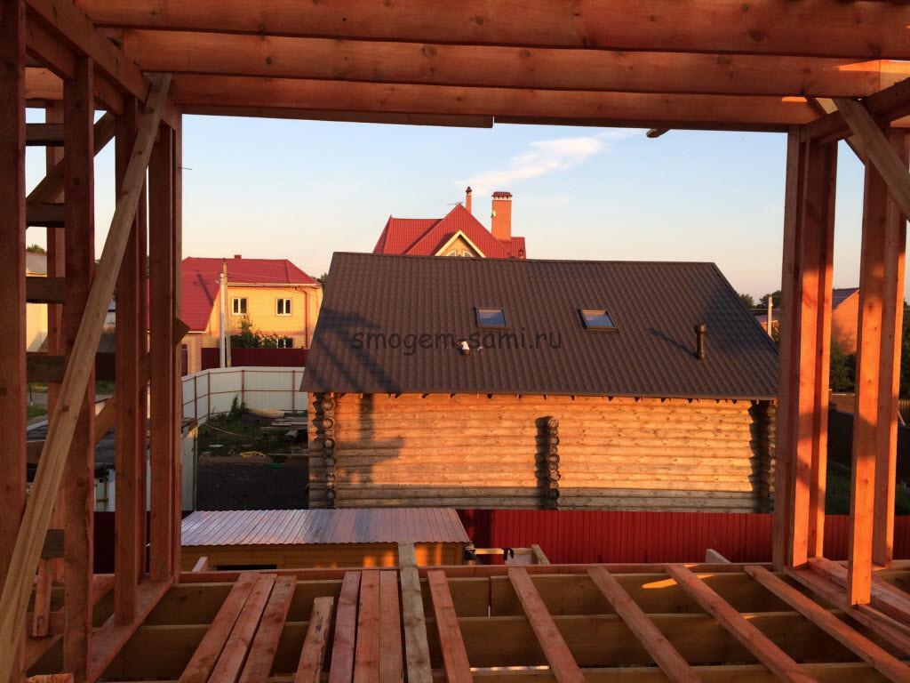 фото - строительство деревянного каркаса для дома своими руками