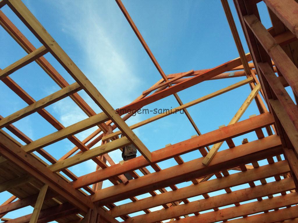 особенности монтажа деревянного каркаса для строительства дома своими руками фото