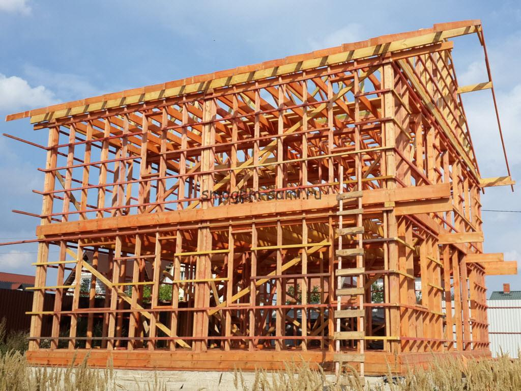 строительство деревянного каркаса для каркасного дома своими руками фото