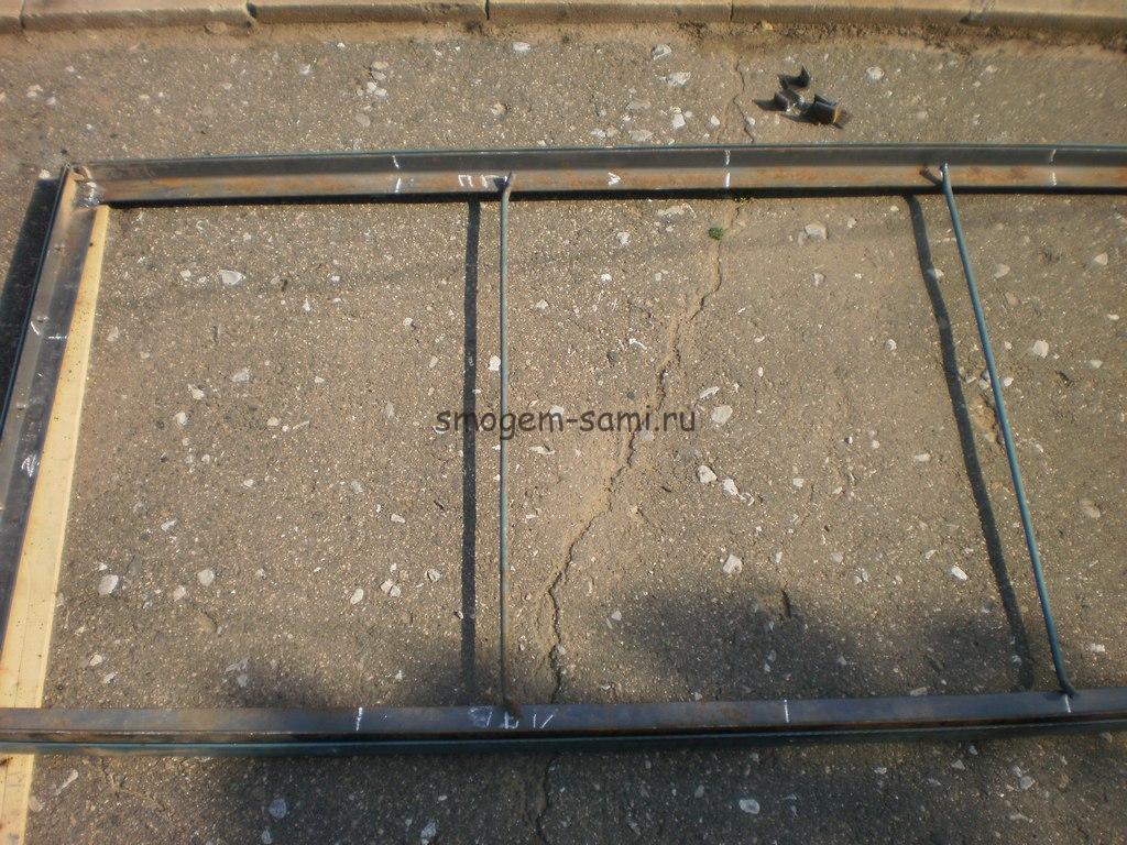 металлическая дверь из уголков фото