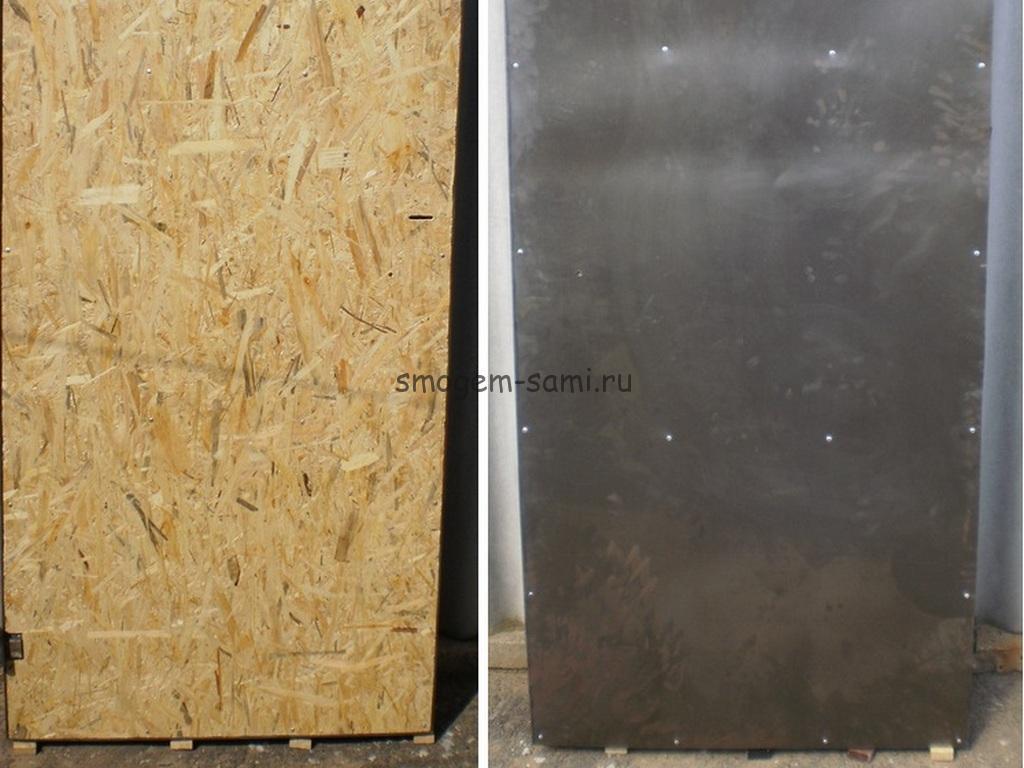 металлическая дверь своими руками фото изготовления