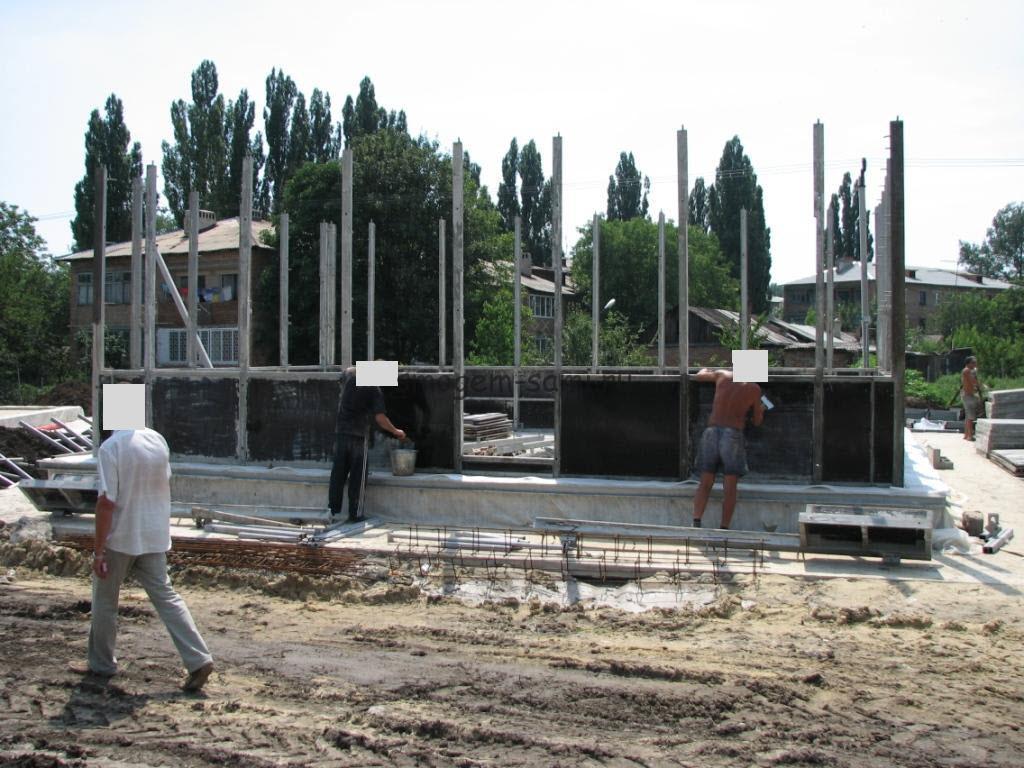 строительство дома из ъемной опалубки своими руками фото
