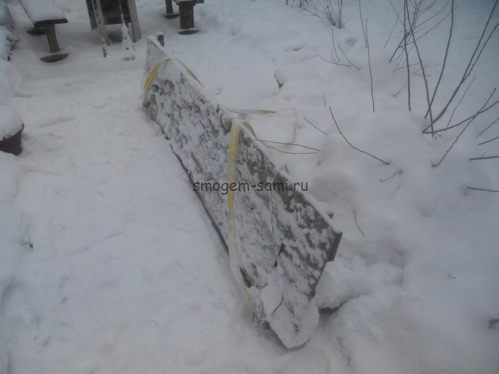 фото самодельное приспособление для чистки снега на машине