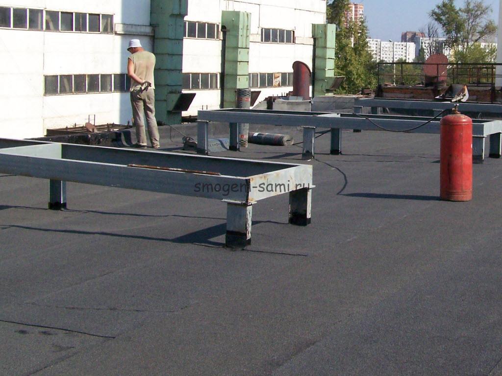 утепление плоской крыши пеноплексом