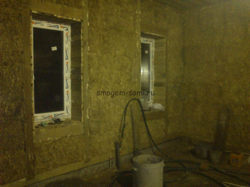 Строительство дома из экологически чистых материалов: деревянного каркаса с утеплением соломой